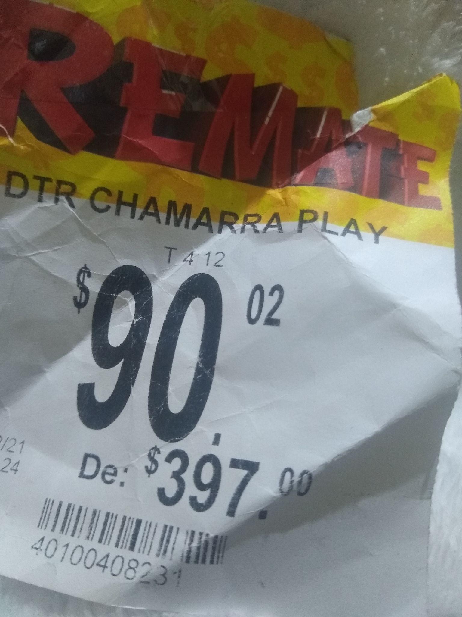 DTR CHAMARRA PLAY ( bodega Aurrera)