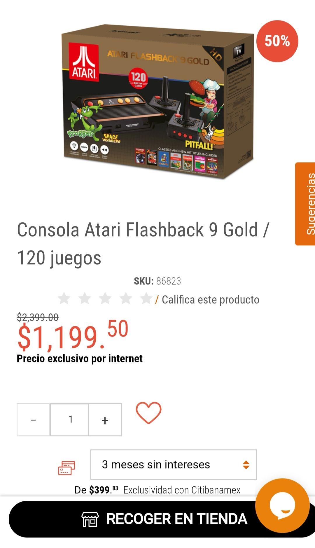 RadioShack: Consola Atari Flashback 9 Gold