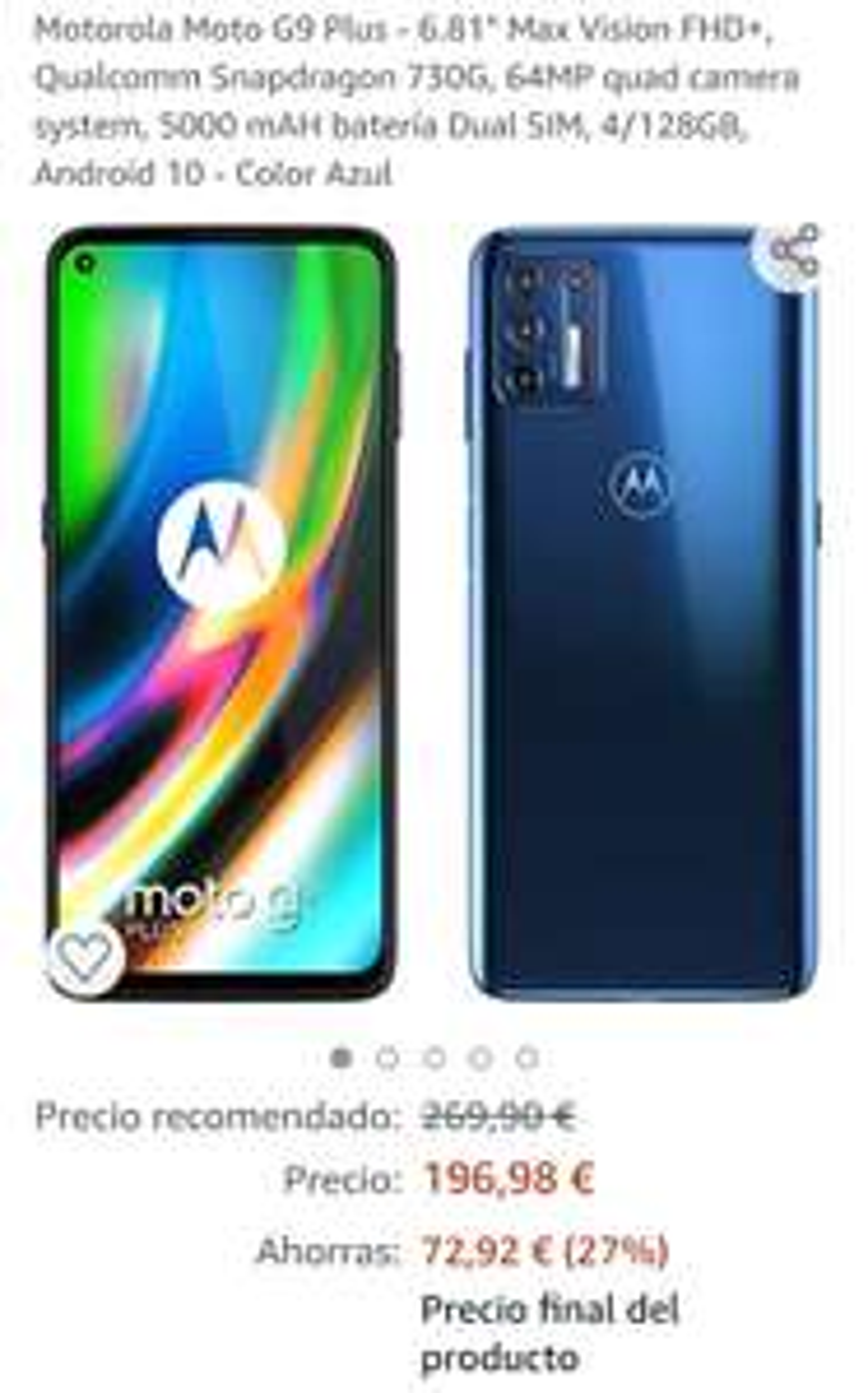 Amazon espana moto g9 plus