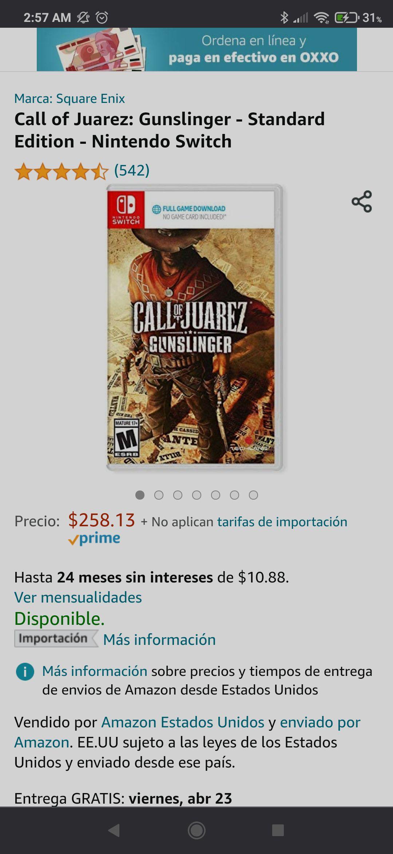 Amazon: Call of Juarez Gunslinger