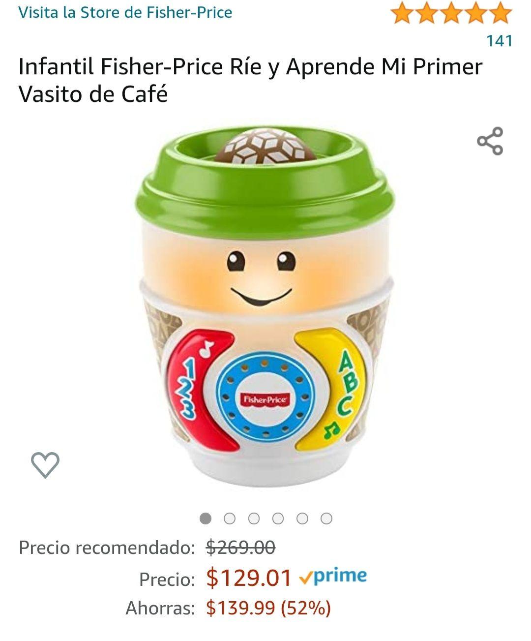 Amazon: Infantil Fisher-Price Ríe y Aprende Mi Primer Vasito de Café