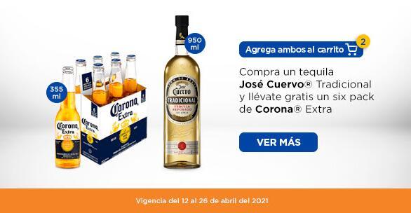 Chedraui: SIX GRATIS!! En la compra de un Tequila José Cuervo Tradicional Reposado