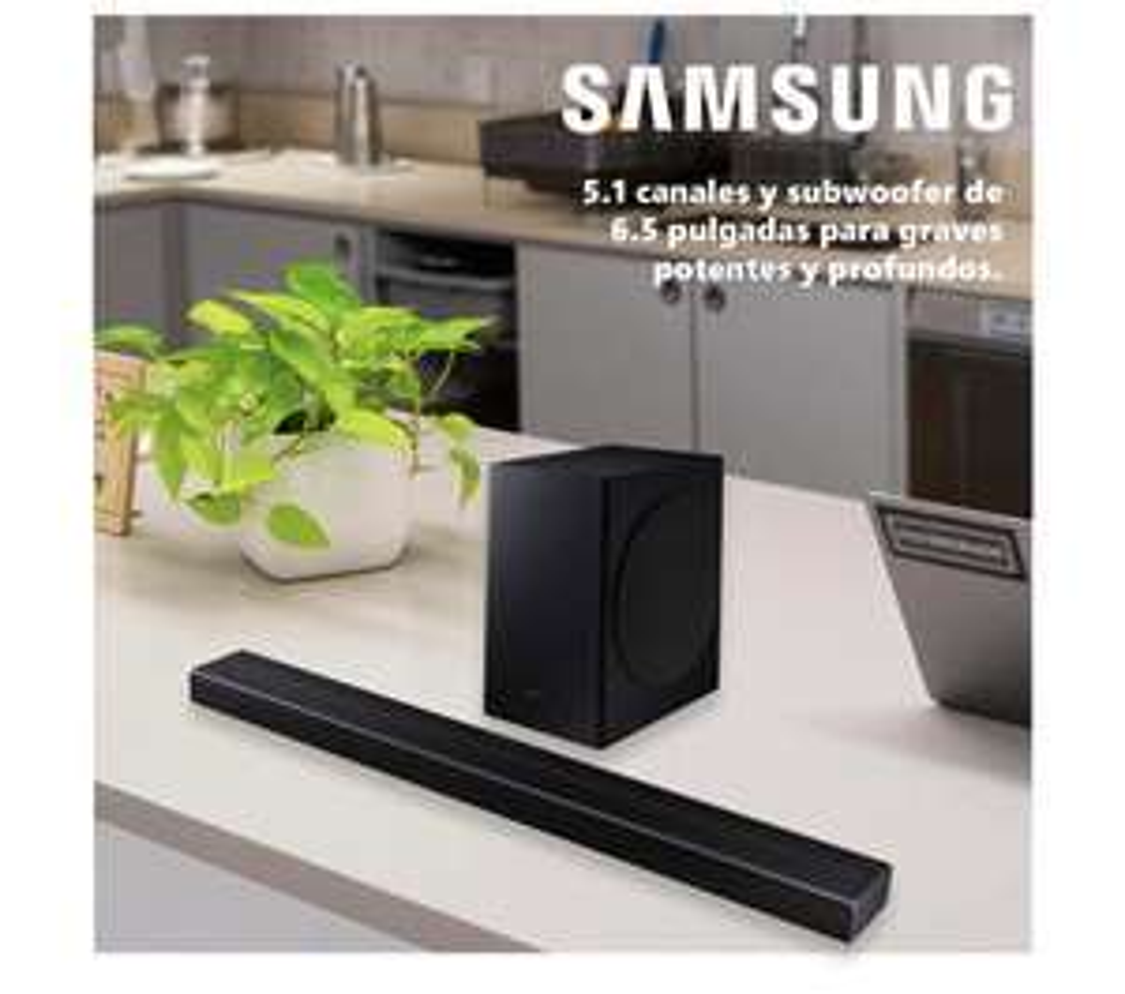 Sam's Club: Barra de Sonido Samsung Q60T Series 5.1 Canales + Subwoofer