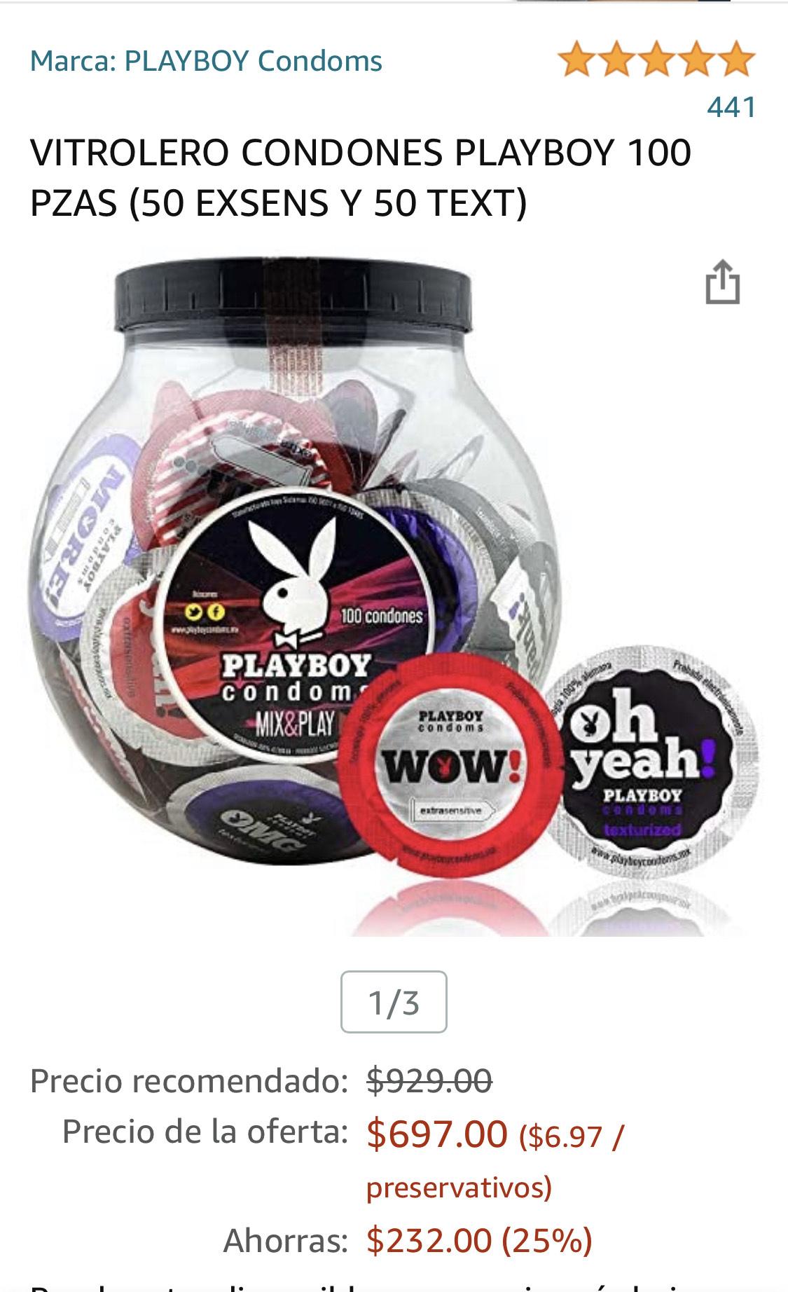Amazon: 100 Condones Playboy