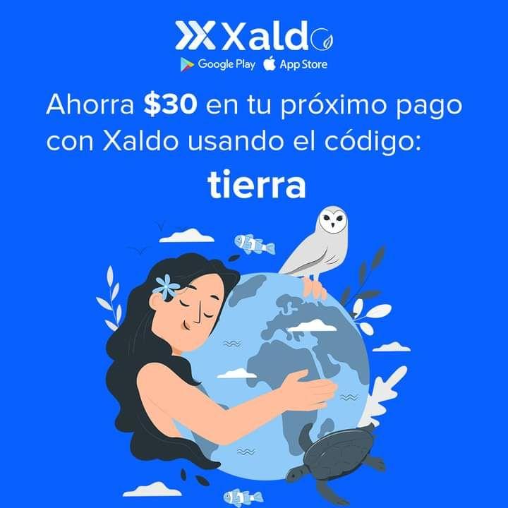 Xaldo: descuento de 30 en pago de servicio de 50