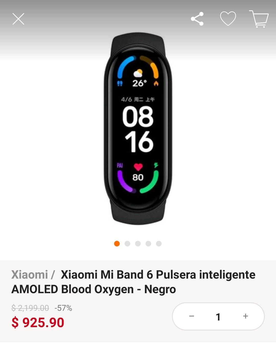 Linio: Xiaomi Mi Band 6 (AMOLED)