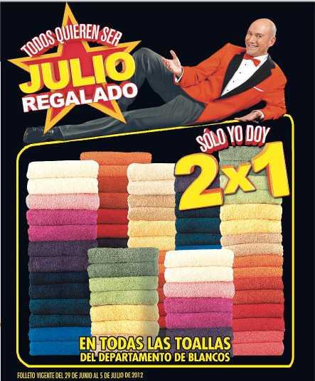 Folleto Julio Regalado Junio 29: 2x1 en toallas, 3x2 en sartenes, bonificación en elecrodomésticos y más