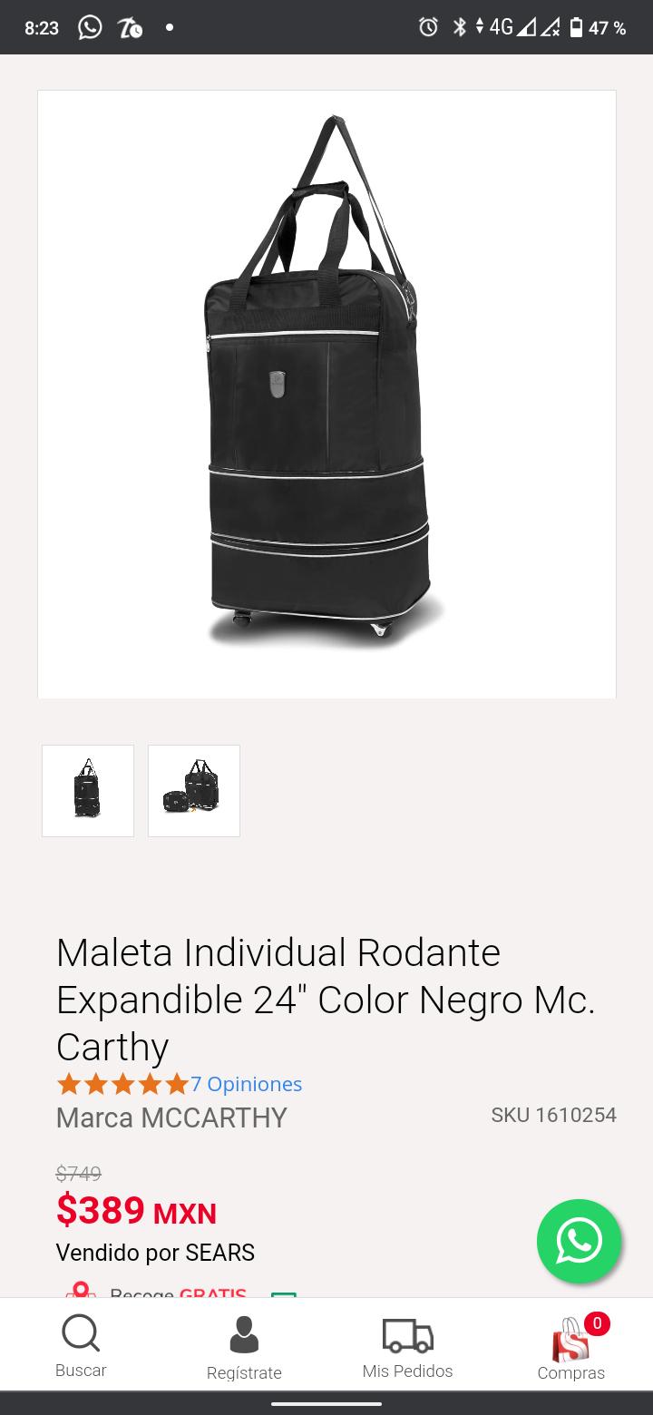 Sears: Maleta expandible Mccarthy