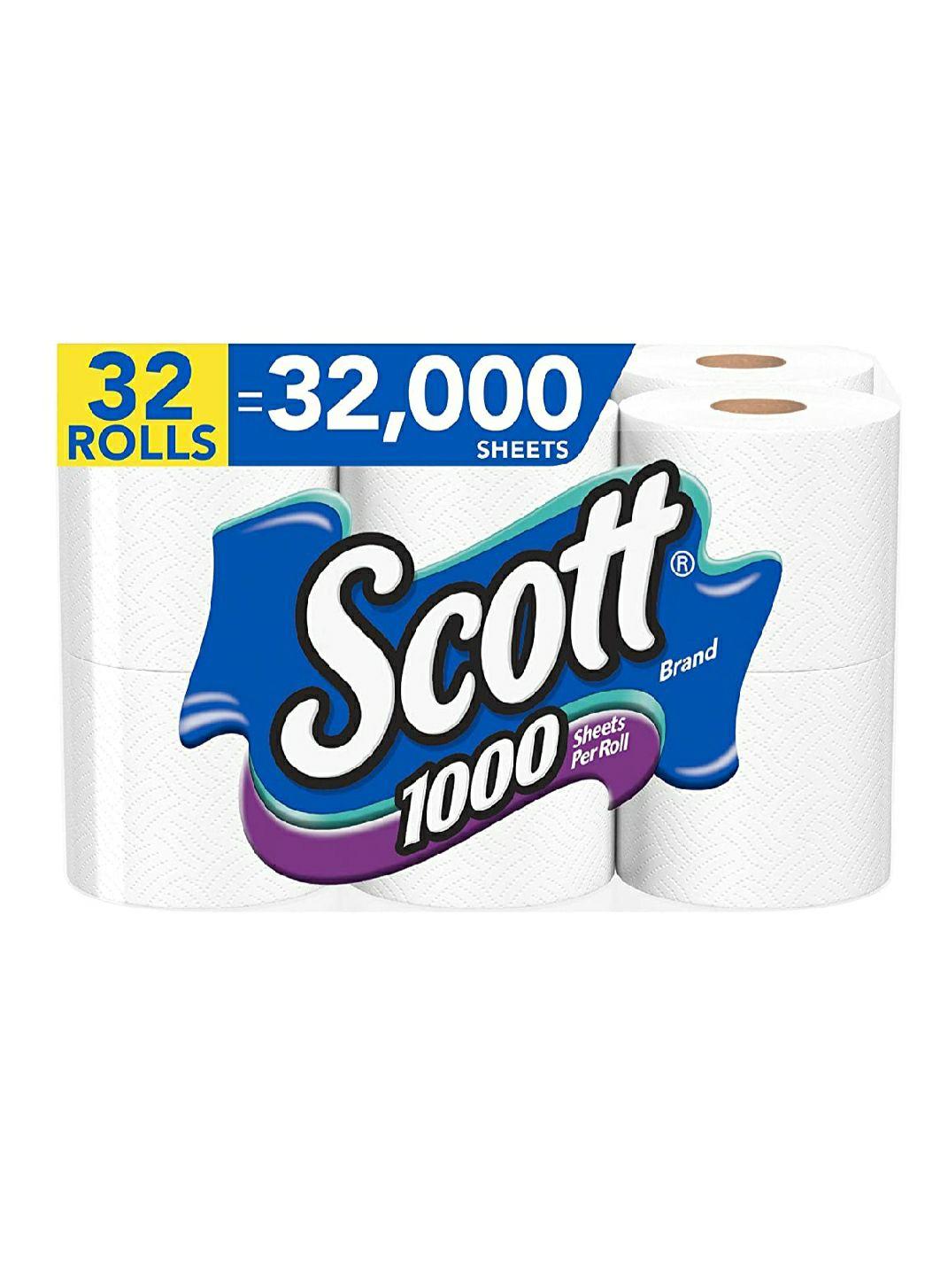 Amazon: Papel Scott 32 rollos de 1000 hojas cada uno