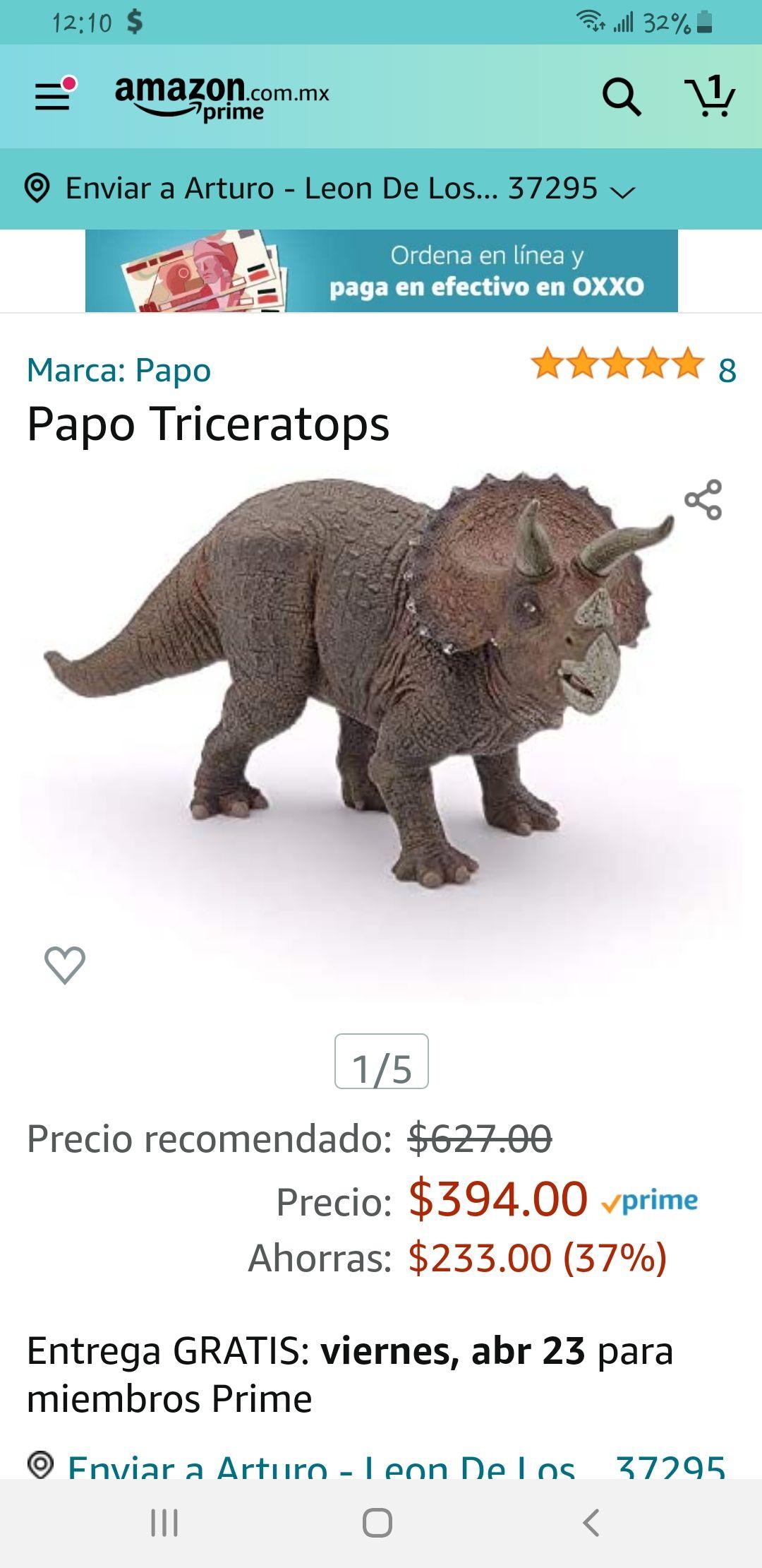 Amazon Triceratops marca Papo