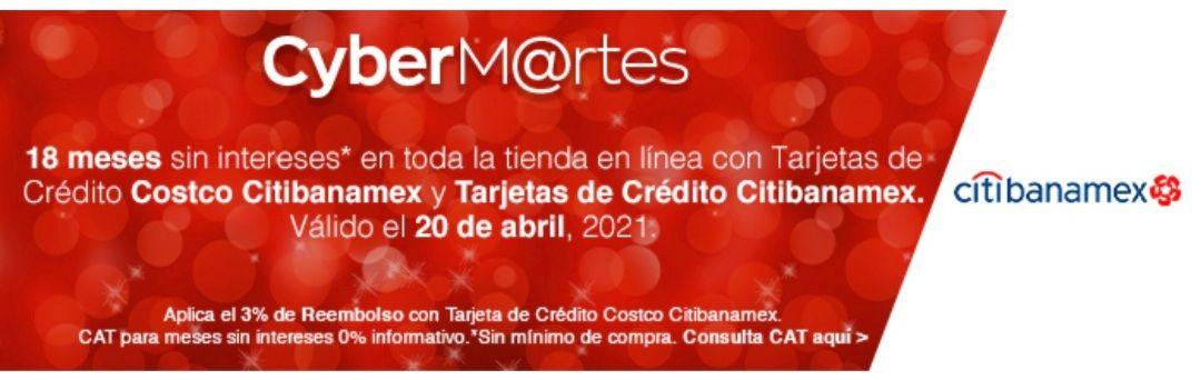 Cyber martes Costco 18 meses sin intereses, sin mínimo de compra, 3% de reembolso comprando con la tarjeta Costco citibanamex