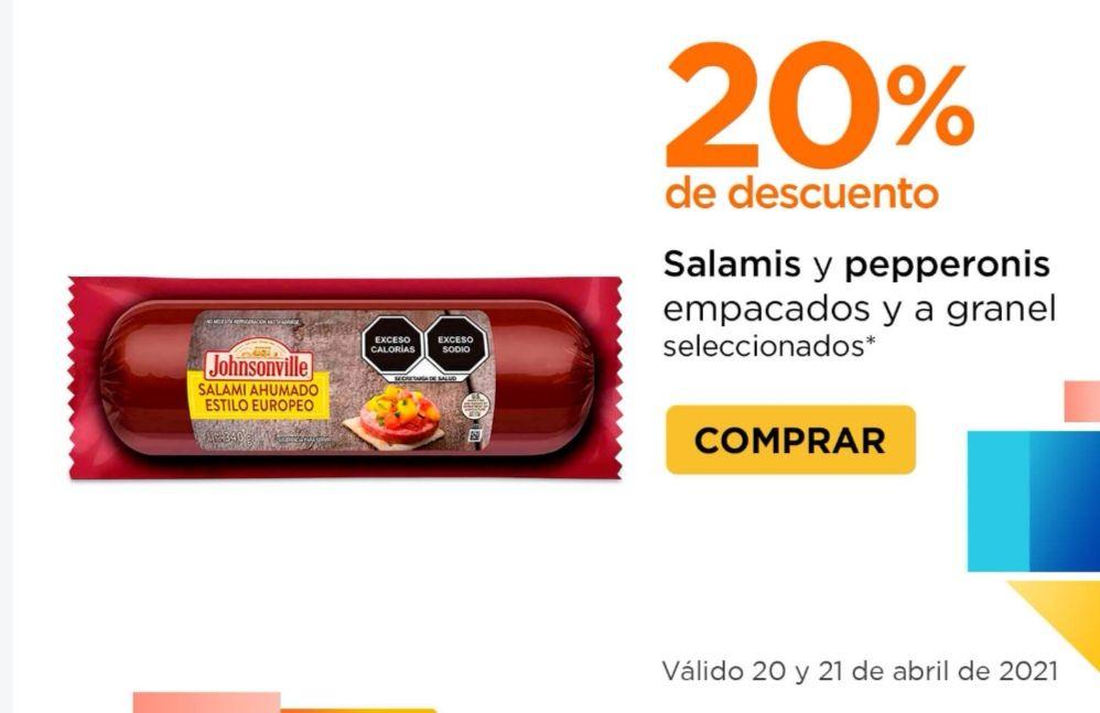Chedraui: 20% de descuento en salamis y pepperonis empacados y a granel