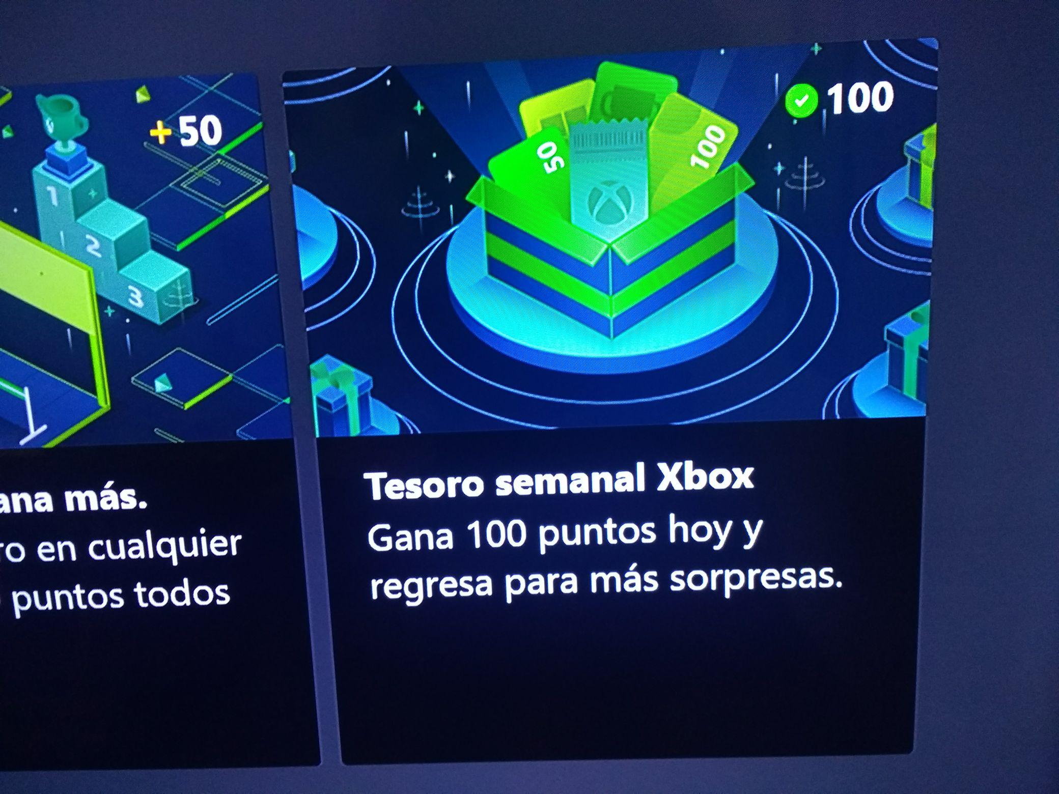 100 Puntos de Microsoft Rewards de regalo en Xbox