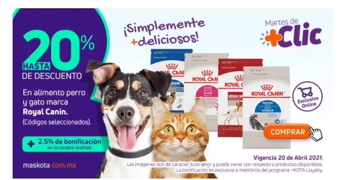 Maskota Hasta 20% de descuento en Royal canin Solo hoy