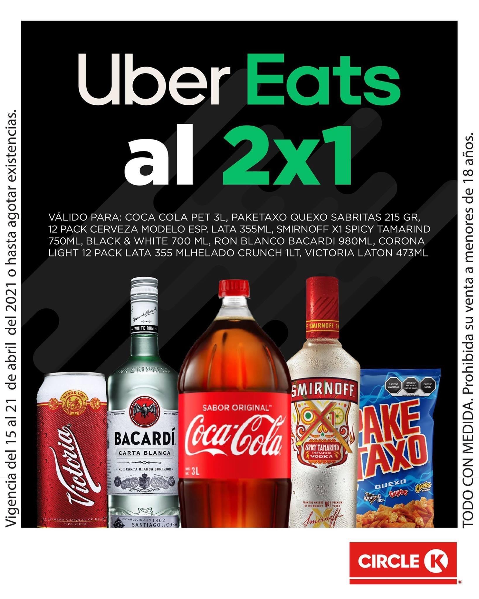 Uber Eats: Promoción de botellas al 2x1