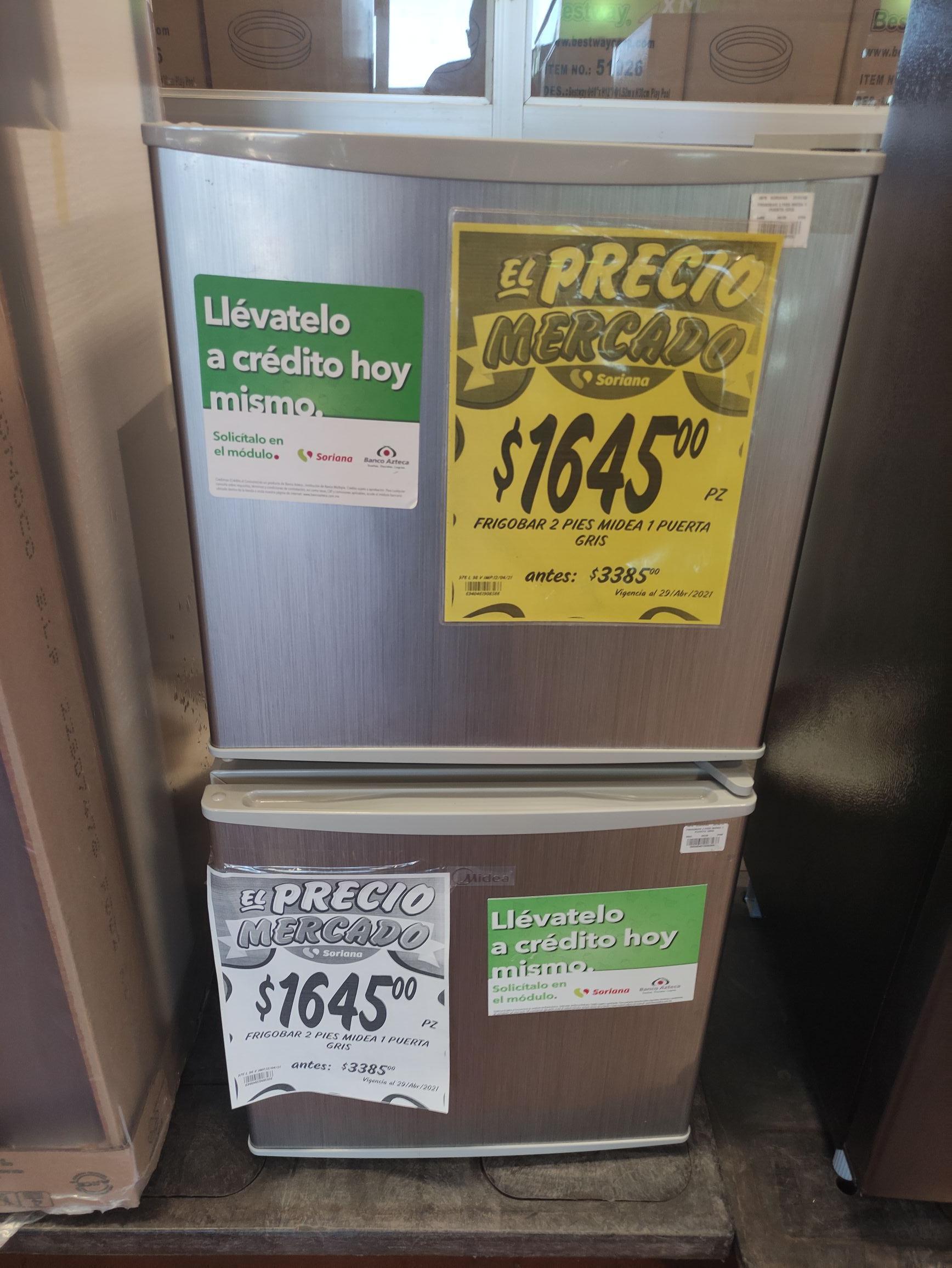 Mercado Soriana Colima: Frigobar midea 2 pies
