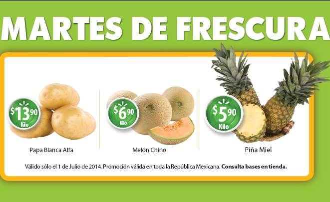 Martes de frescura Walmart julio 1: piña $5.90 el kilo y más