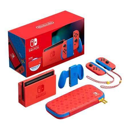HEB: Consola Nintendo Switch Red & Blue Edicion Mario pagando con Tarjeta de Crédito Digital BBVA