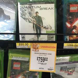 Walmart Guaymas: Quantum Break para Xbox One a $759.02