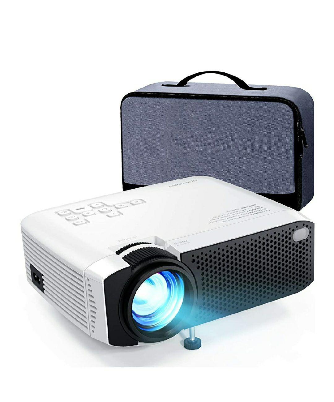 Amazon APEMAN - Mini proyector con brillo de 5000L proyector de pantalla de 180 pulgadas [funda de transporte incluida]