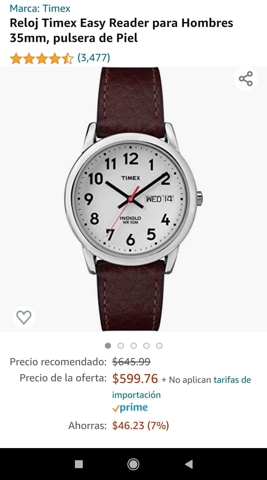 Amazon Timex Easy reader indiglo