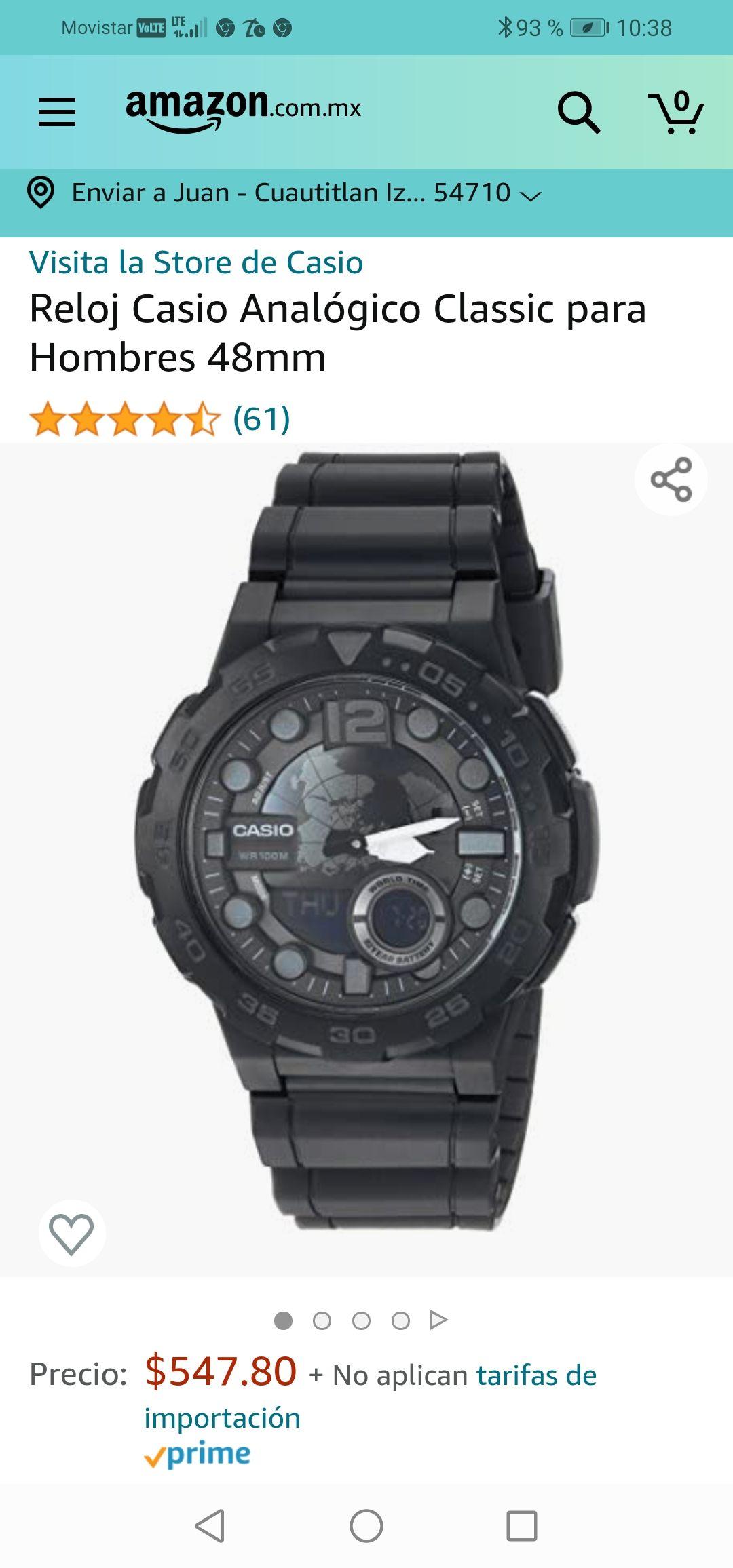 Amazon : Reloj Casio Analógico Classic para Hombres 48mm