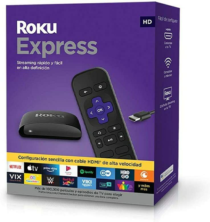Amazon: ROKU Express Dispositivo de Streaming HD con Cable HDMI de Alta Velocidad y Control Remoto Simple