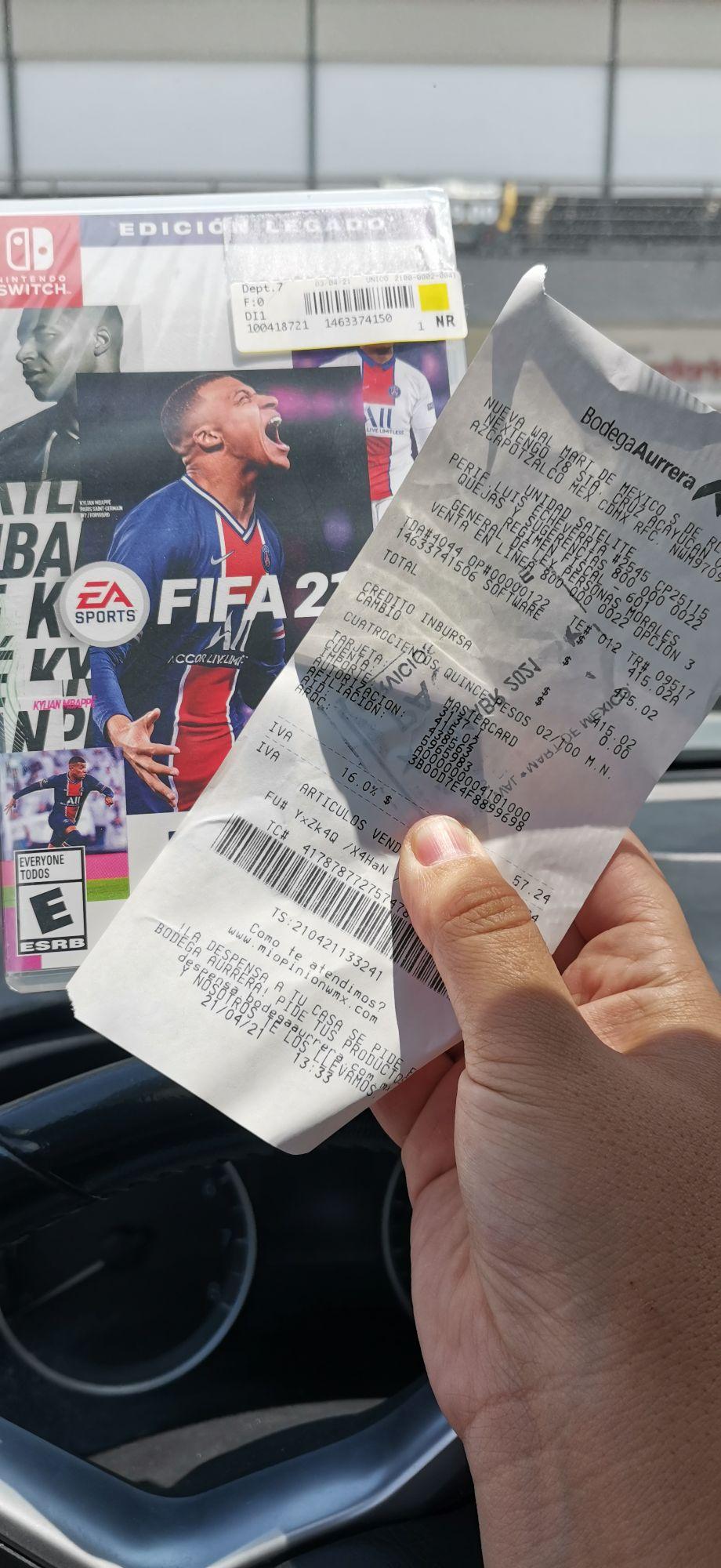 FIFA 21 Nintendo swich en bodega Aurrera