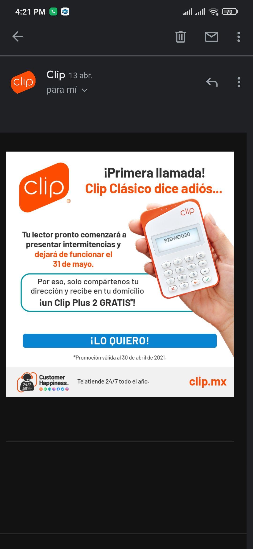 Clip: cambio de lector gratis