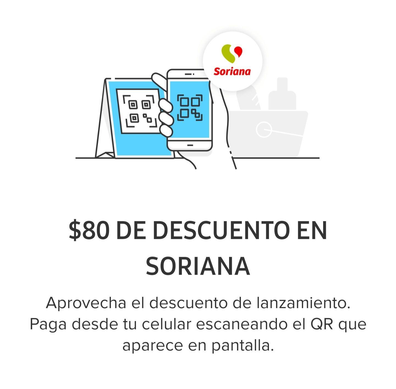 Soriana: $80 de Descuento con Mercado Pago