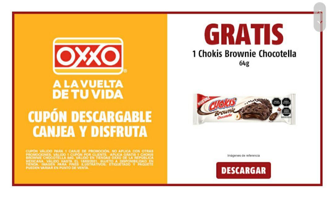 Oxxo: GRATIS CHOKIS BROWNIE CHOCOTELLA
