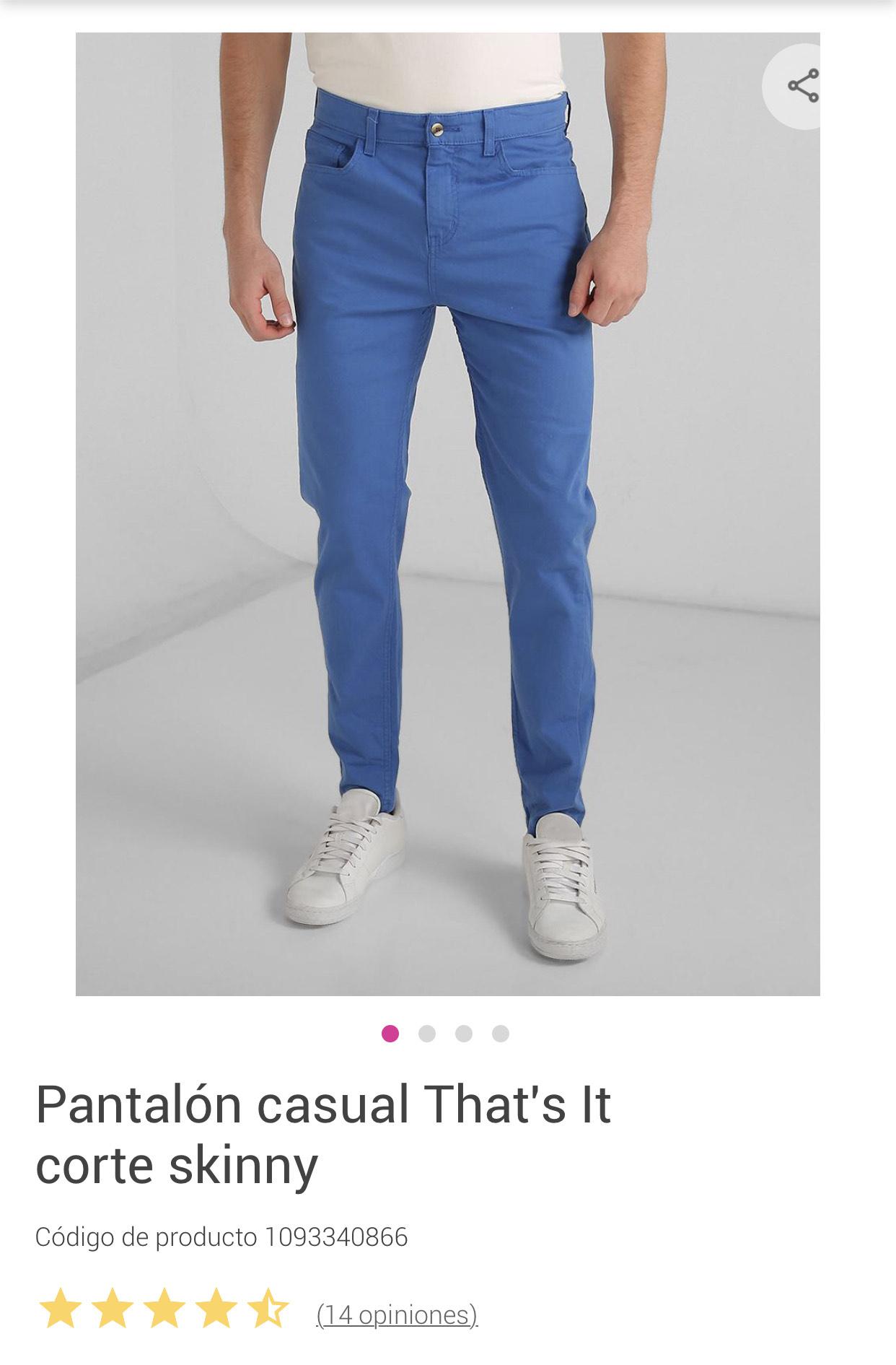 Liverpool: Pantalón casual That's it corte skinny en varios colores.