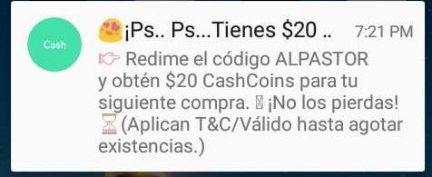 Hola Cash: 20 CashCoins para usuarios seleccionados