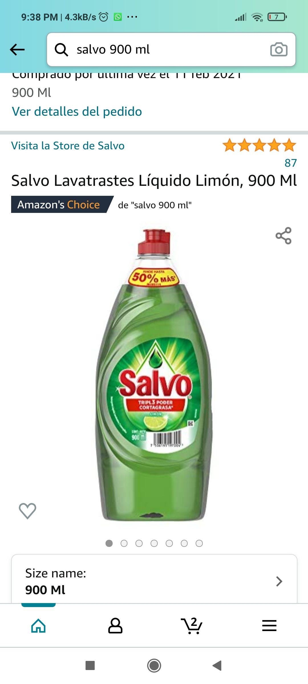 Amazon: Salvo 900 ml