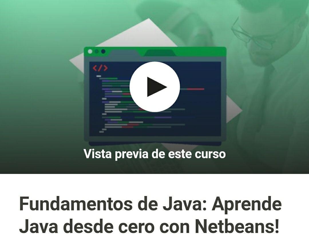 Udemy: Fundamentos de Java: Aprende Java desde cero con Netbeans!