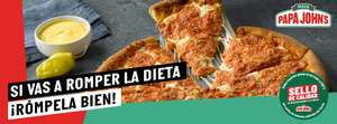Papá John's: Segunda pizza a 25 pesos
