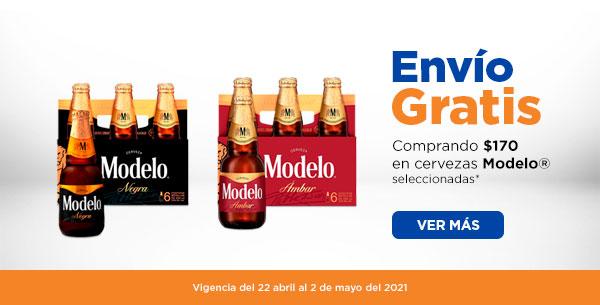 Chedraui: Envío gratis en super en la compra de $170 en cervezas Modelo seleccionadas