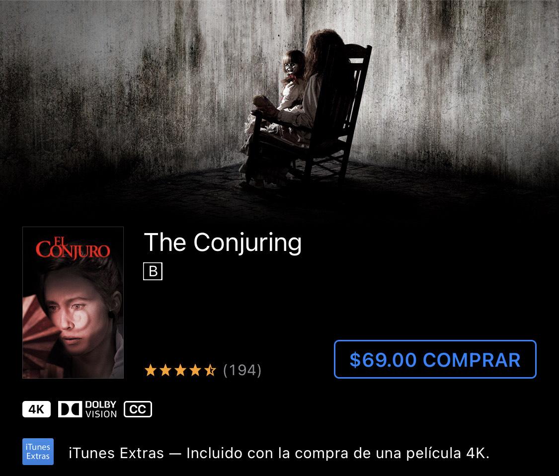 iTunes - El conjuro 4K