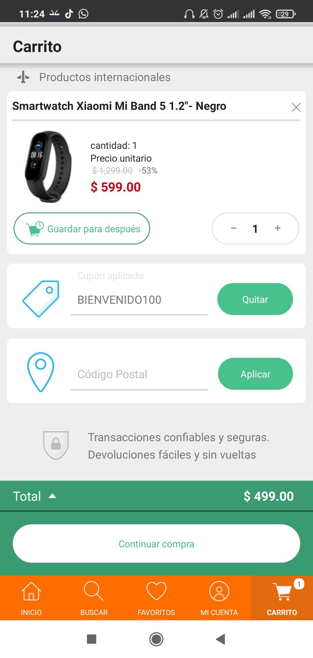 LINIO: 100 de descuento primera compra en app.