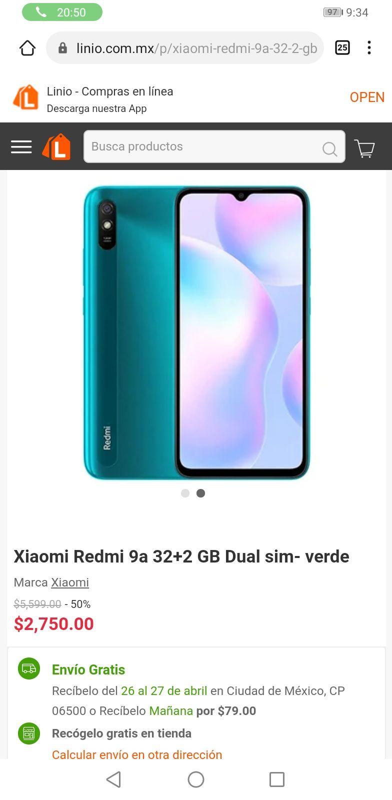 Linio: Xiaomi Redmi 9a 32+2 GB Dual sim- verde