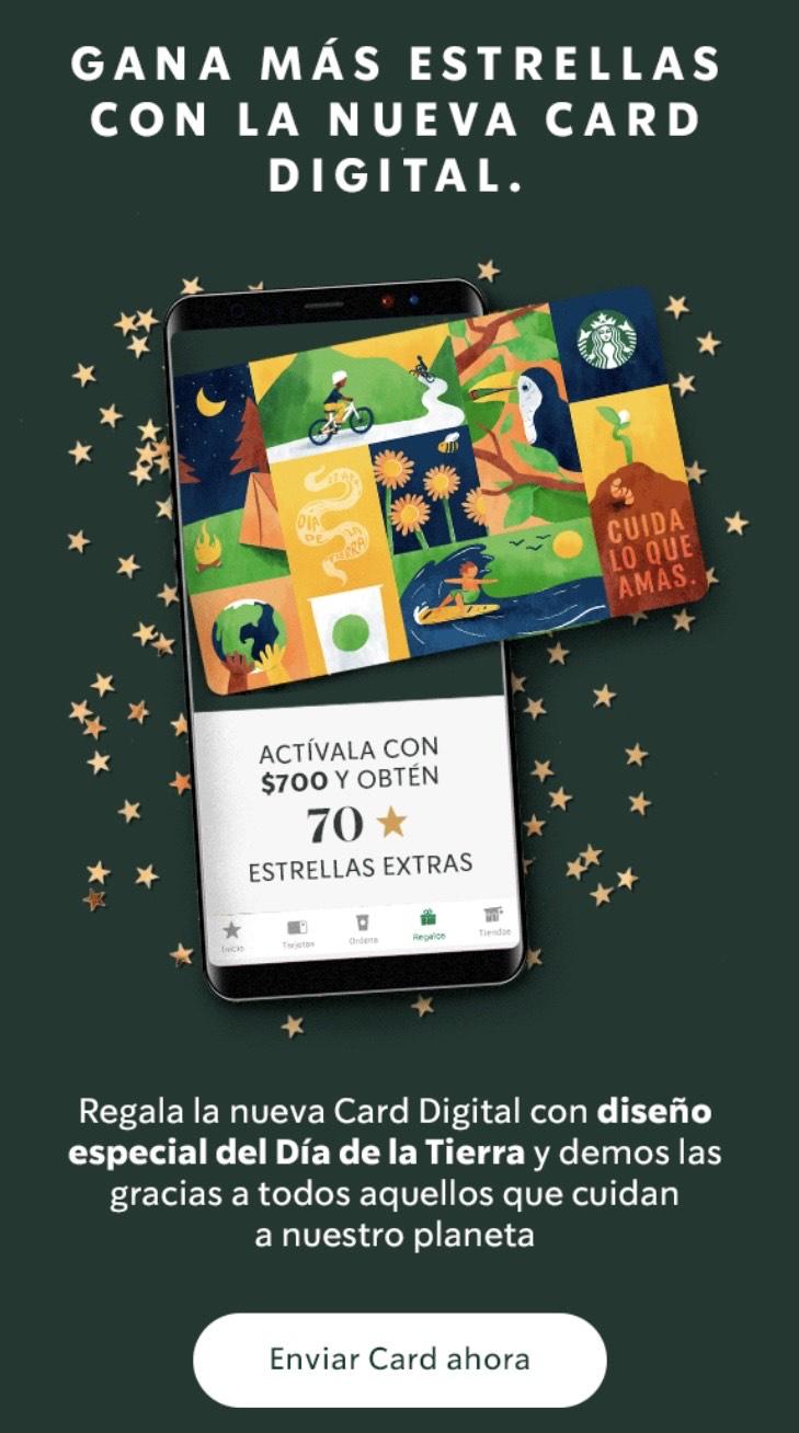 Starbucks: Hasta 70 estrellas extra al enviar una eGift