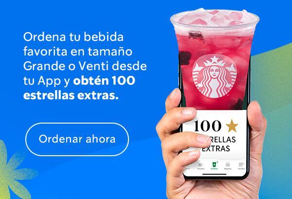 Starbucks: Obtén 100 estrellas ordenando una bebida desde la app (SOLO HOY)