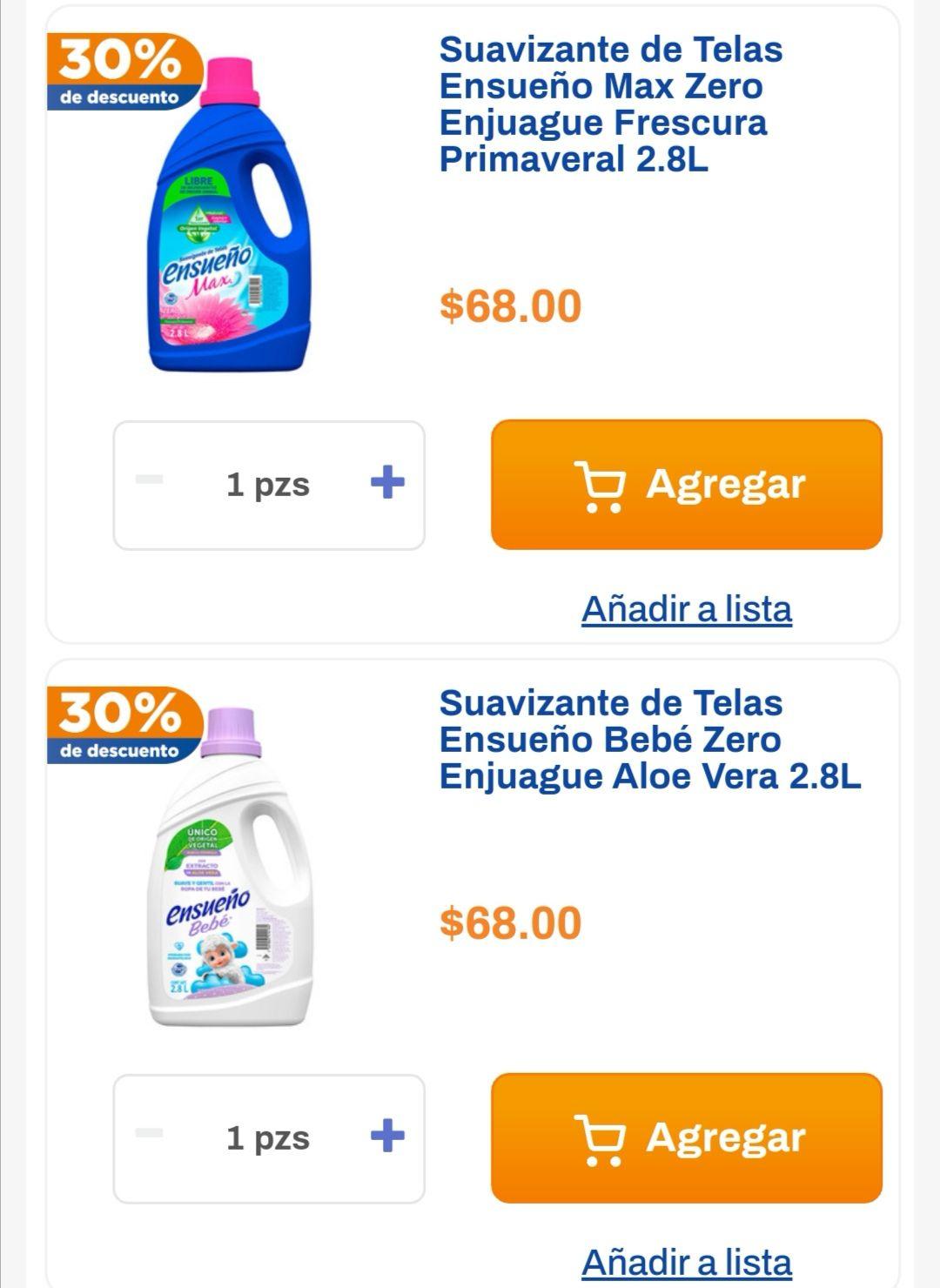 Chedraui: 30% de descuento en suavizantes Ensueño Zero 2.8 L
