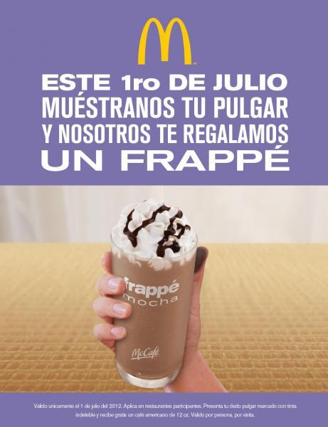McDonald's: frappé gratis después de votar el 1 de julio (actualización)