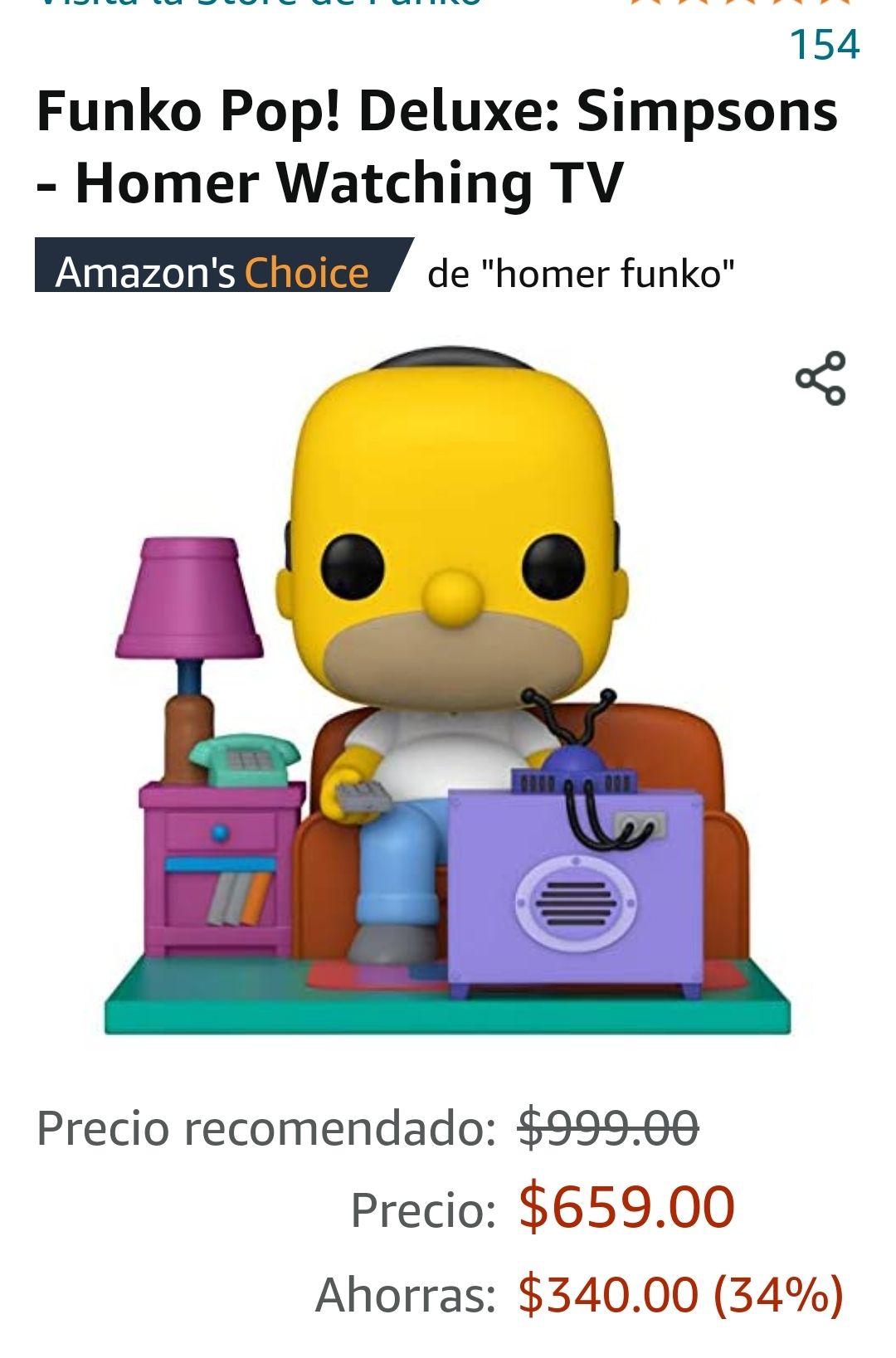 AMAZON: Funko de Homero viendo La hora Pico