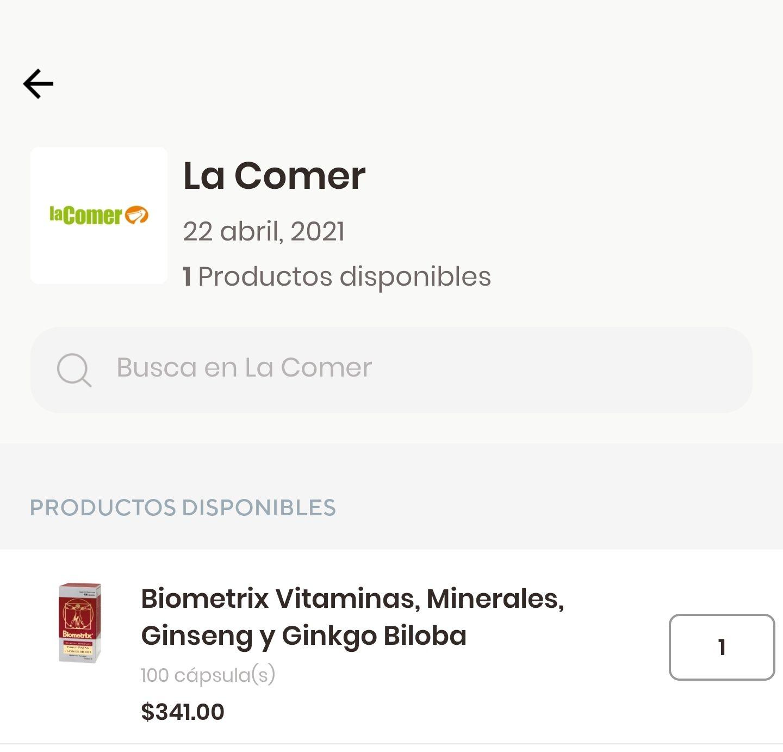La Comer: Biometrix 100 cápsulas
