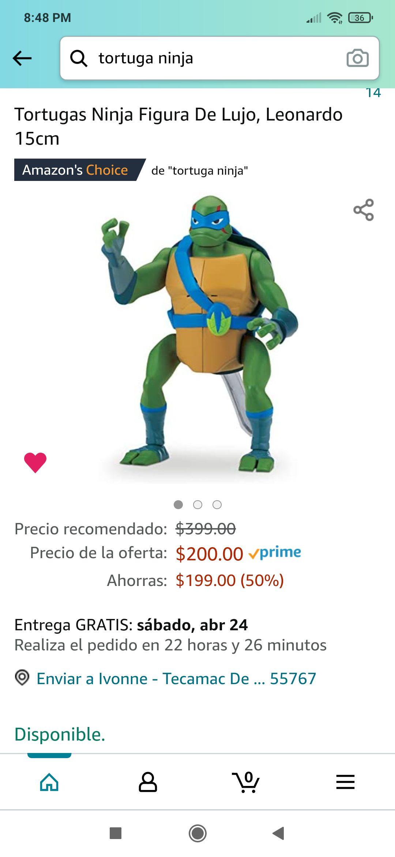 Amazon: Tortugas Ninja Figura De Lujo, Leonardo 15cm
