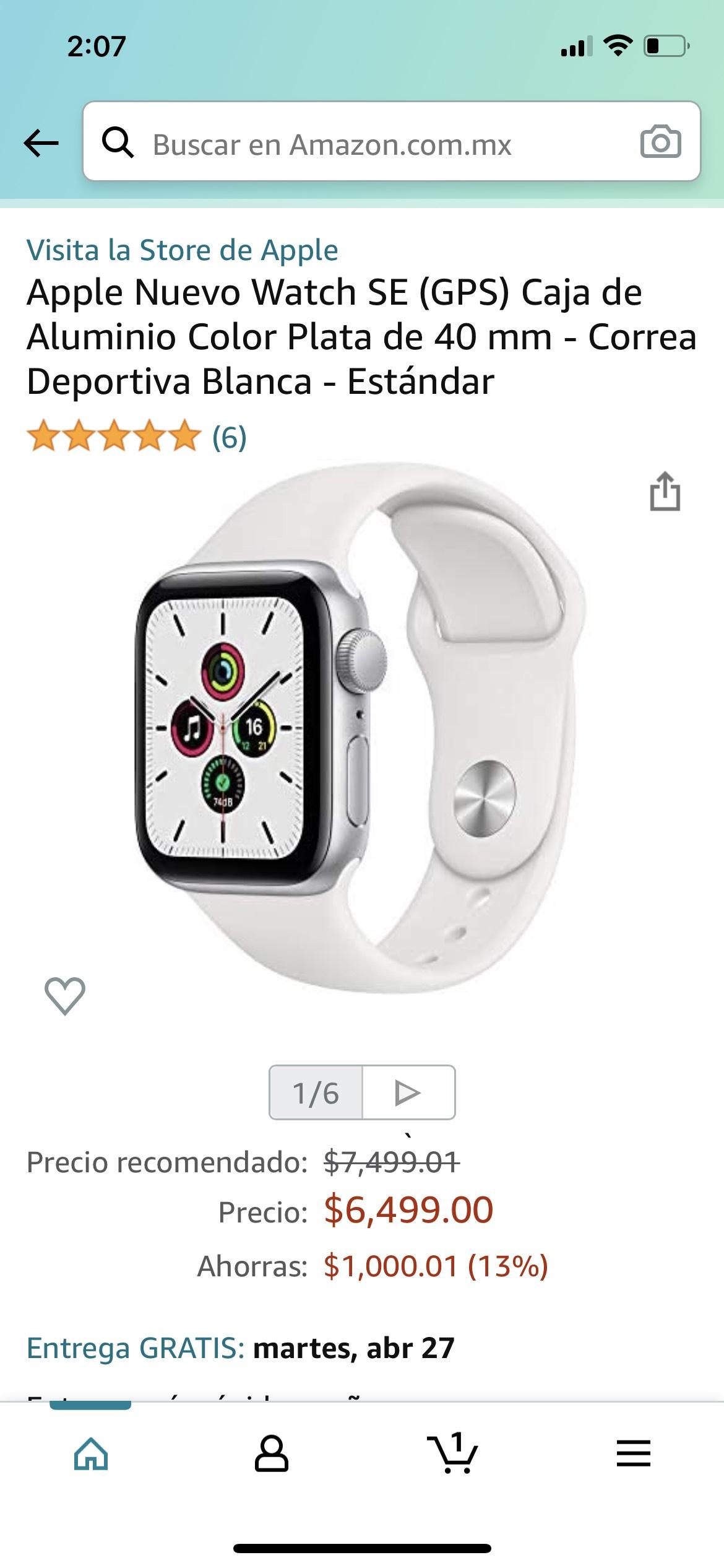Amazon: Apple Watch se de 40 mm