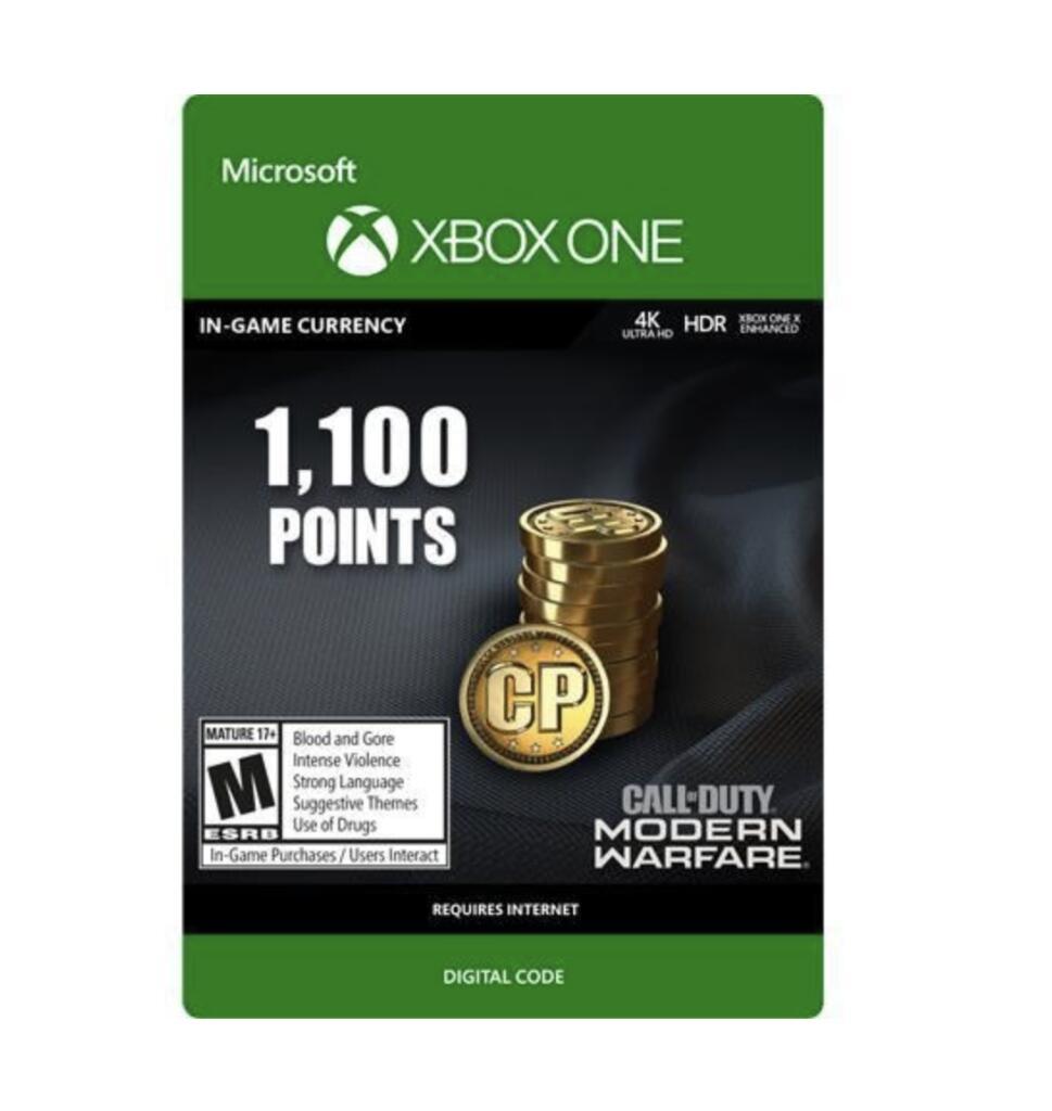CyberPuerta Call of Duty: Modern Warfare, 1100 Puntos, Xbox.
