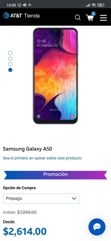 AT&T Samsung Galaxy A50 Negro, Azul, Blanco